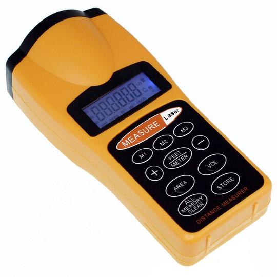 Medidor Distâncias Ultrasónico Digital + Apontador Laser