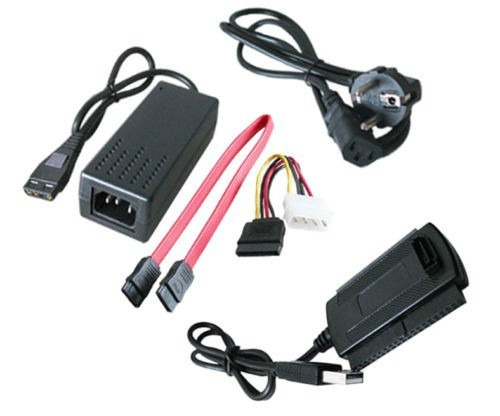 USB 2.0 - SATA / IDE 2.5 & 3.5 Com Transformador
