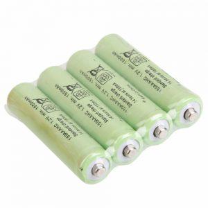 4 Pilhas Ni-MH AAA 1800mAh 1.2V Recarregáveis