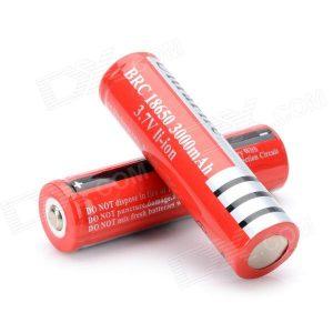 2x Pilha Bateria Recarregável 18650 LI-ION 3000mAh 3.7V