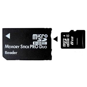 Adaptador Micro SD Memory Stick Pro Duo + Micro SD 8GB
