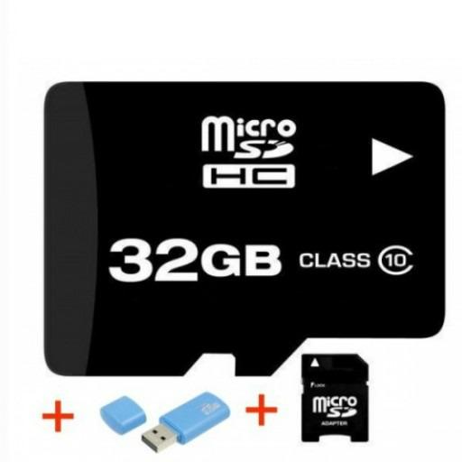 Cartão Micro SD 32GB Classe 10 PSP + Adaptadores SD USB