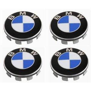 4 Centros De Jante Azul Emblema BMW 60mm
