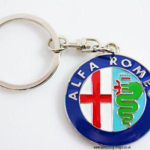 Elegante Porta Chaves Metálico Alfa Romeo
