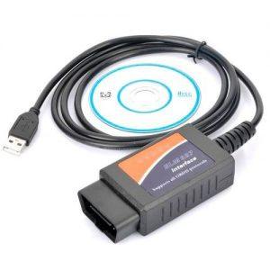 Cabo Diagnóstico Auto ELM327 V1.5 OBDII CAN-BUS USB