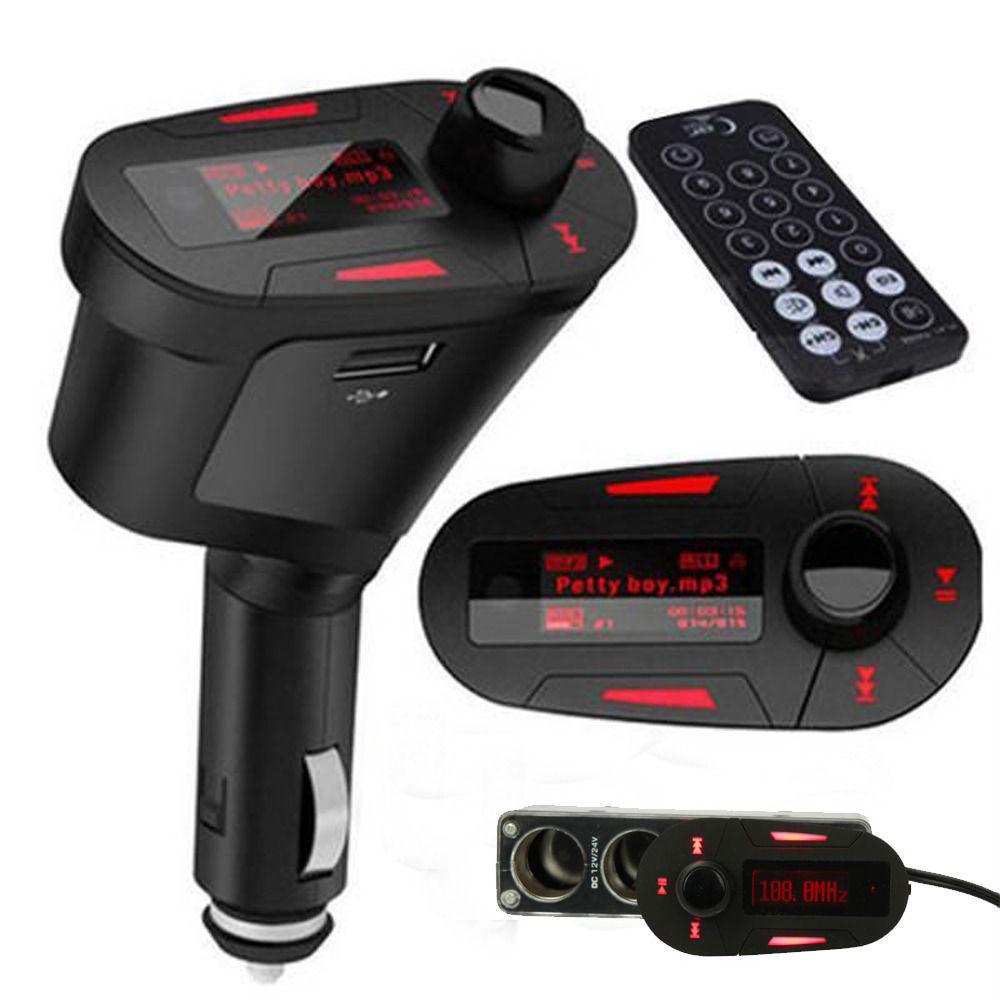 LCD Leitor Transmissor FM Auto MP3 Carro USB AUX