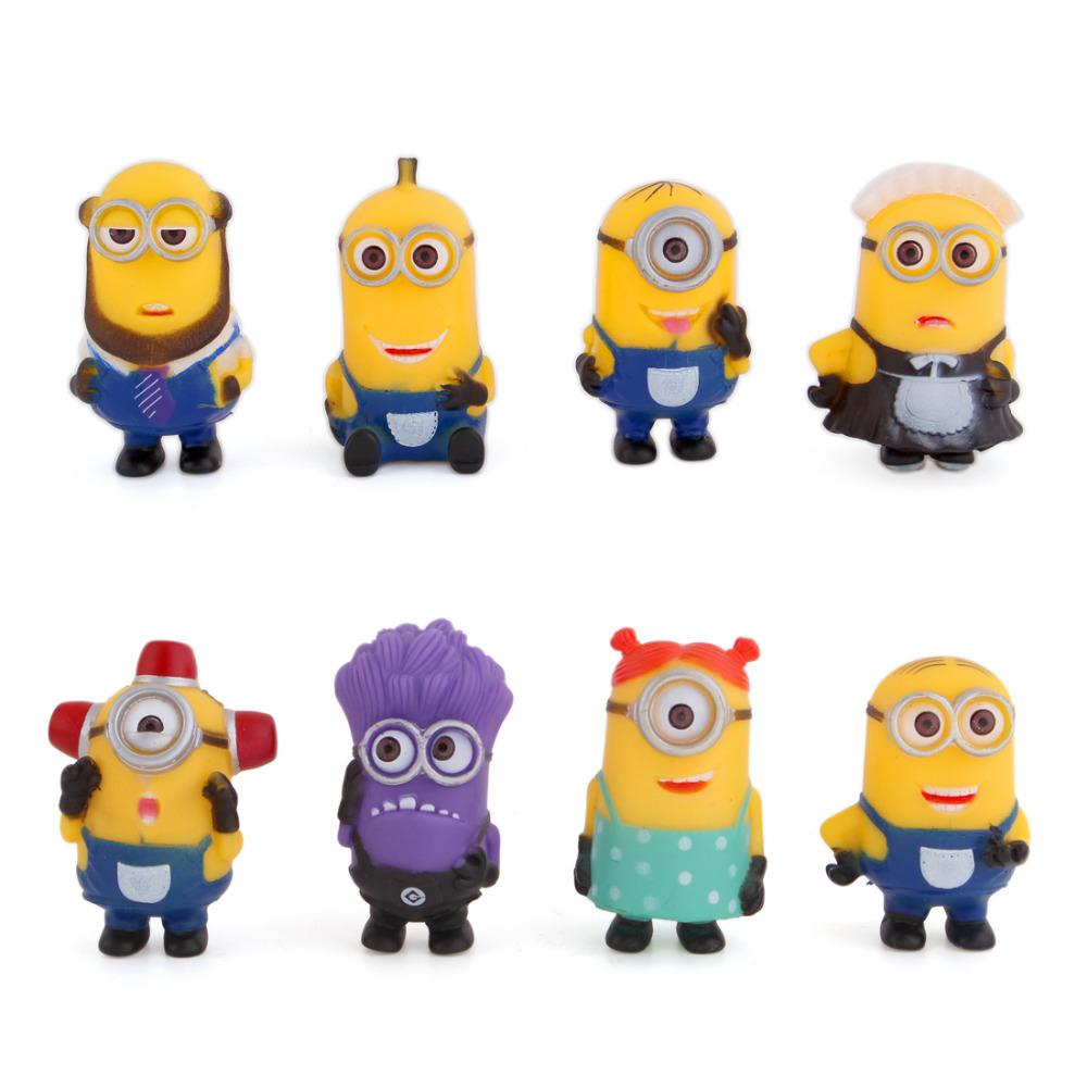 8 Miniaturas Despicable Me Minions