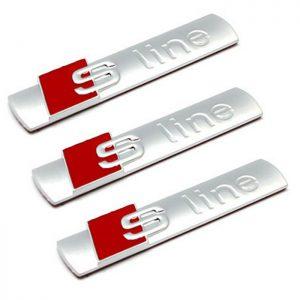 2x Símbolos laterais Audi S Line A3 A4 A6 A8 S4 Sline