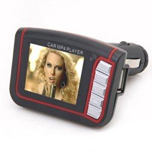 "LCD 1.8"" Leitor Transmissor FM Auto MP3 / MP4 - Carro"