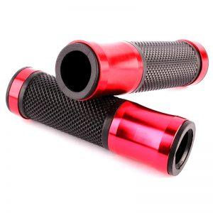 2 Punhos para Moto Universais Borracha e Alumínio CNC