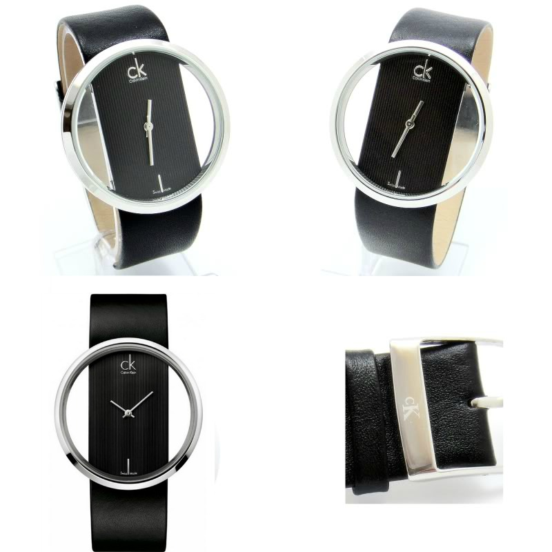 Relógio Calvin Klein Preto Bracelete em Pele Genuína