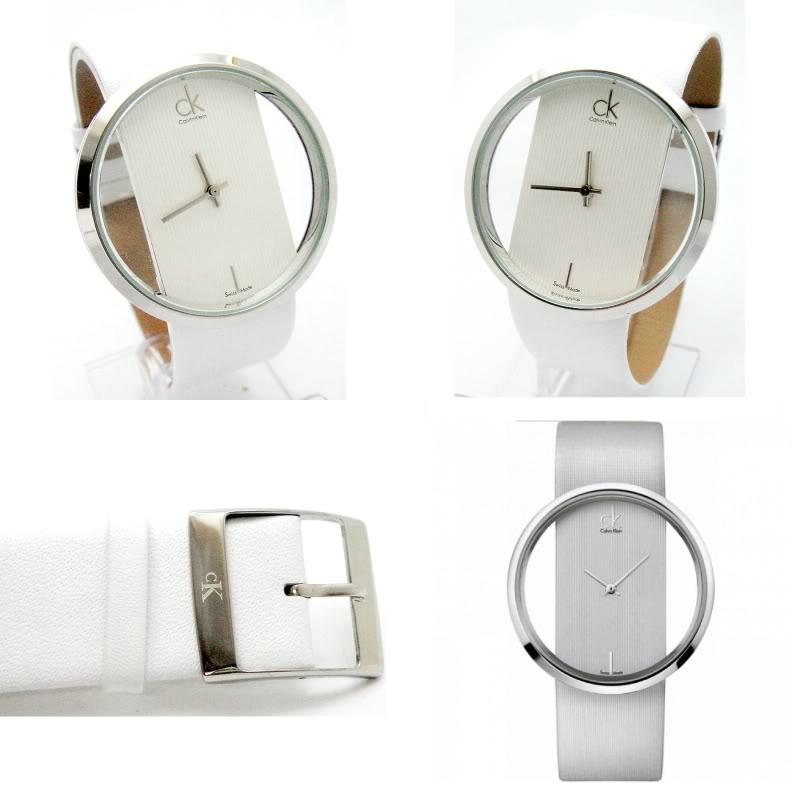 Relógio Calvin Klein Branco Bracelete em Pele Genuína