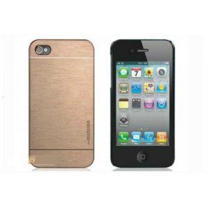 Capa Luxury Aluminium Gold iPhone 4 4s + Película