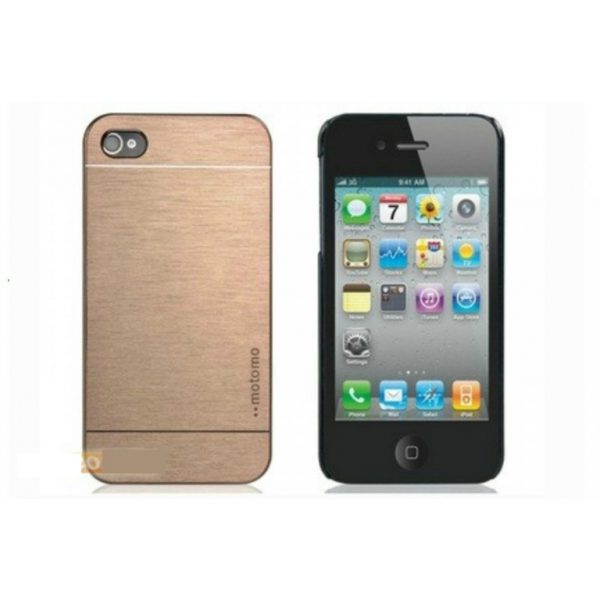 Capa Luxury Aluminium Gold iPhone 5 5S SE + Película