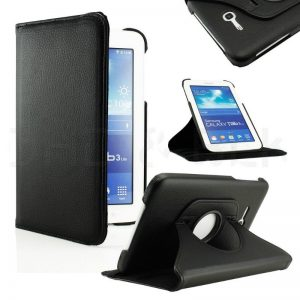 "Capa Pele 360º Para Samsung Galaxy Tab 3 Lite T110 7"""