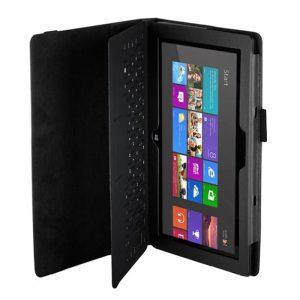 Capa Pele Preta Microsoft Surface 2 RT + Película Stock