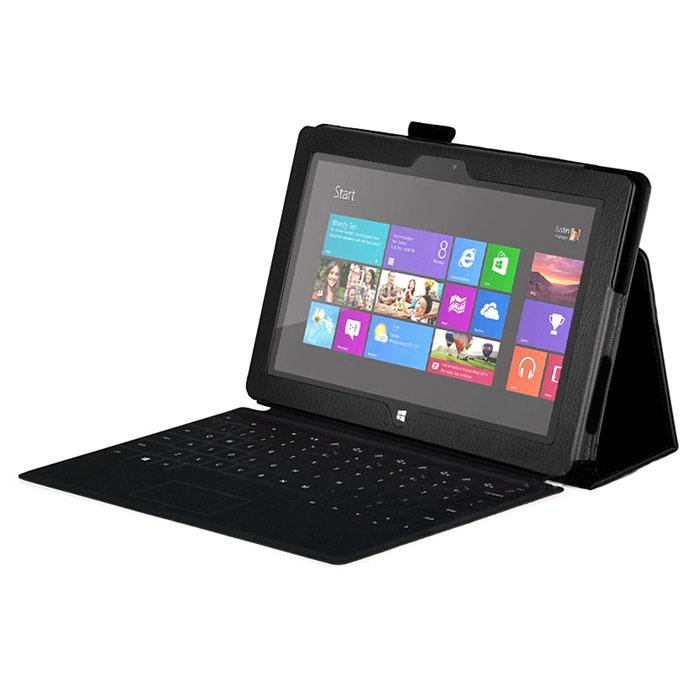 Capa Pele Preta Microsoft Surface Pro + Película
