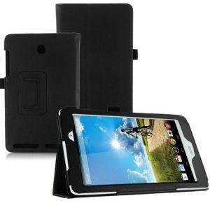"""Capa Smart Cover Pele Preta para Acer Iconia A1-840 8"""""""