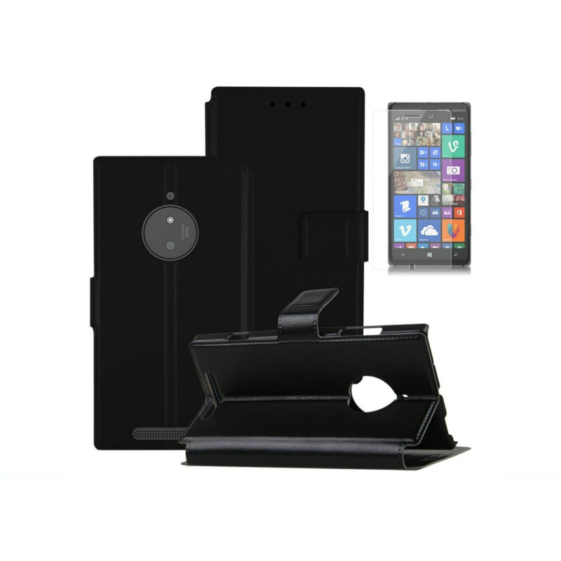 Capa Carteira Magnética Pele Nokia Lumia 830 + Película