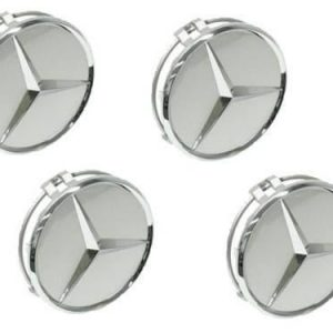 4 Centros Jante Emblema Mercedes Benz AMG 60mm