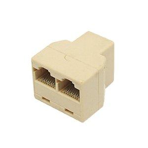 Divisor Splitter Ethernet RJ45 1 entrada duas saídas
