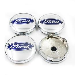 4 Centros De Jante Emblema Ford 60mm