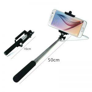 Selfie Stick Extensível com Botão Disparador Incorporado