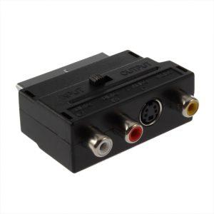 Adaptador Scart RGV 3x RCA S-Video Video Áudio