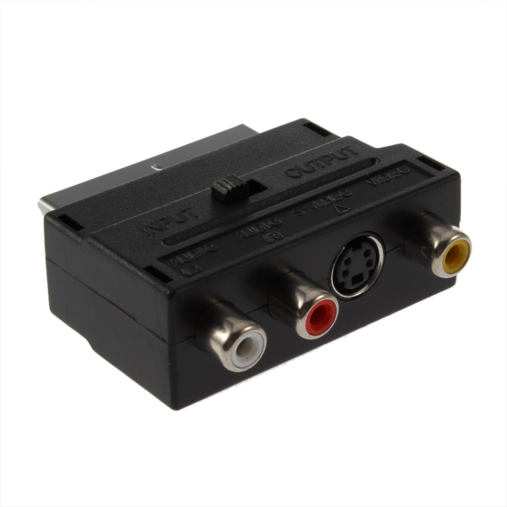 Adaptador Scart RGV 3x RCA S-Video Video Áudio