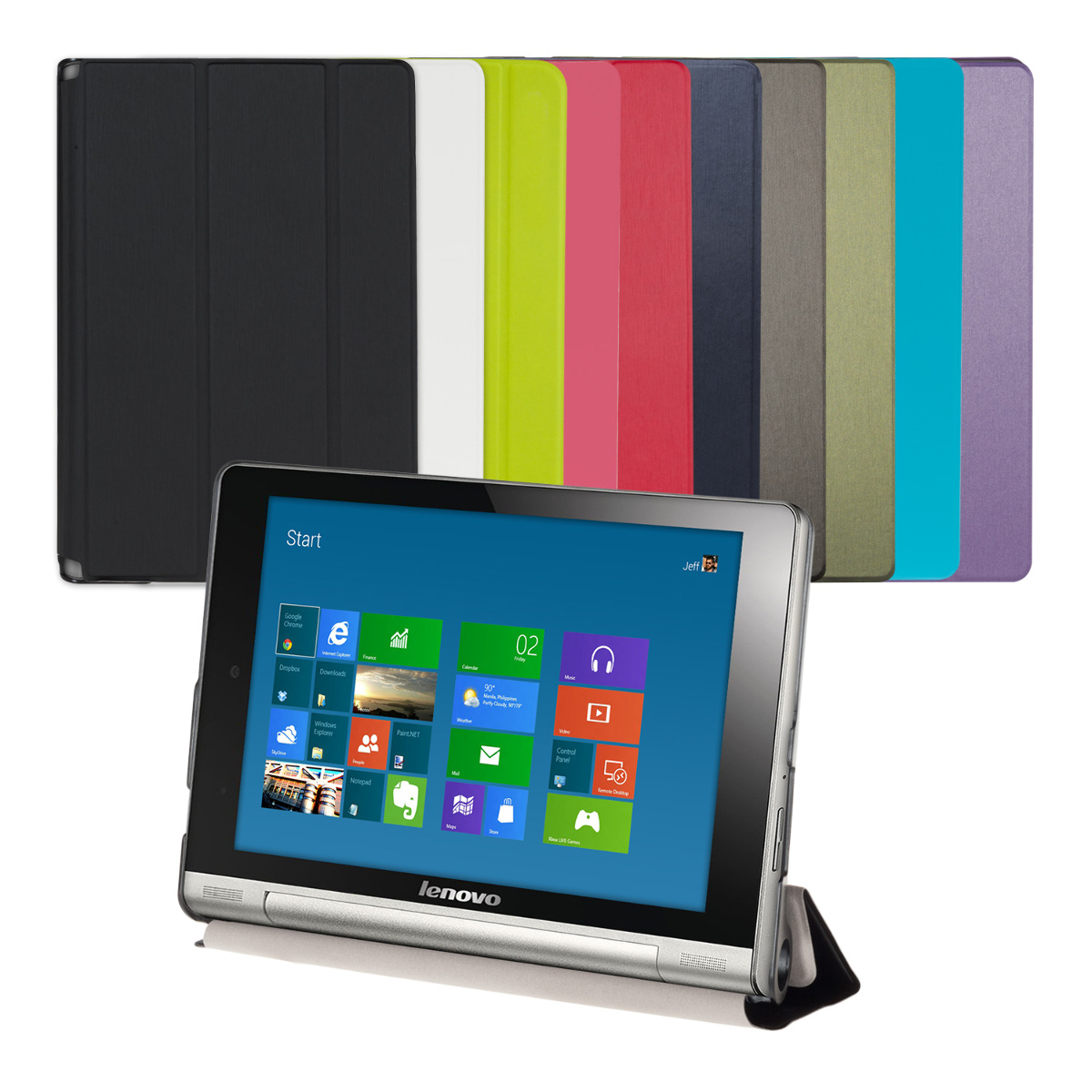 Capa Slim cover PU Pele LENOVO YOGA TABLET 8