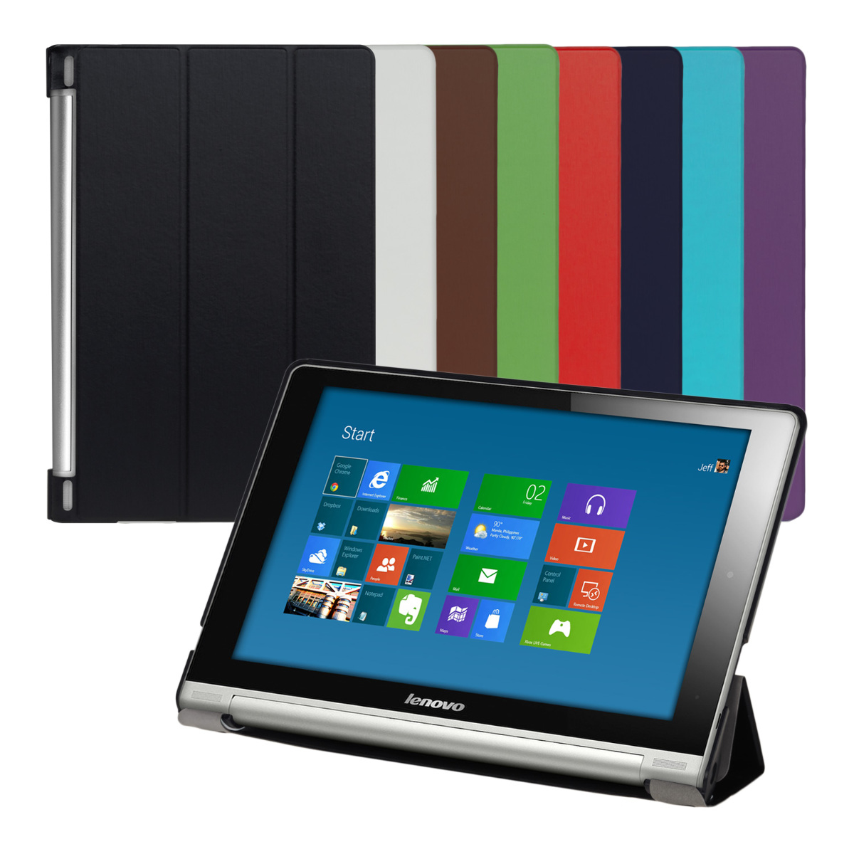 Capa Smart cover PU Pele LENOVO YOGA TABLET 10