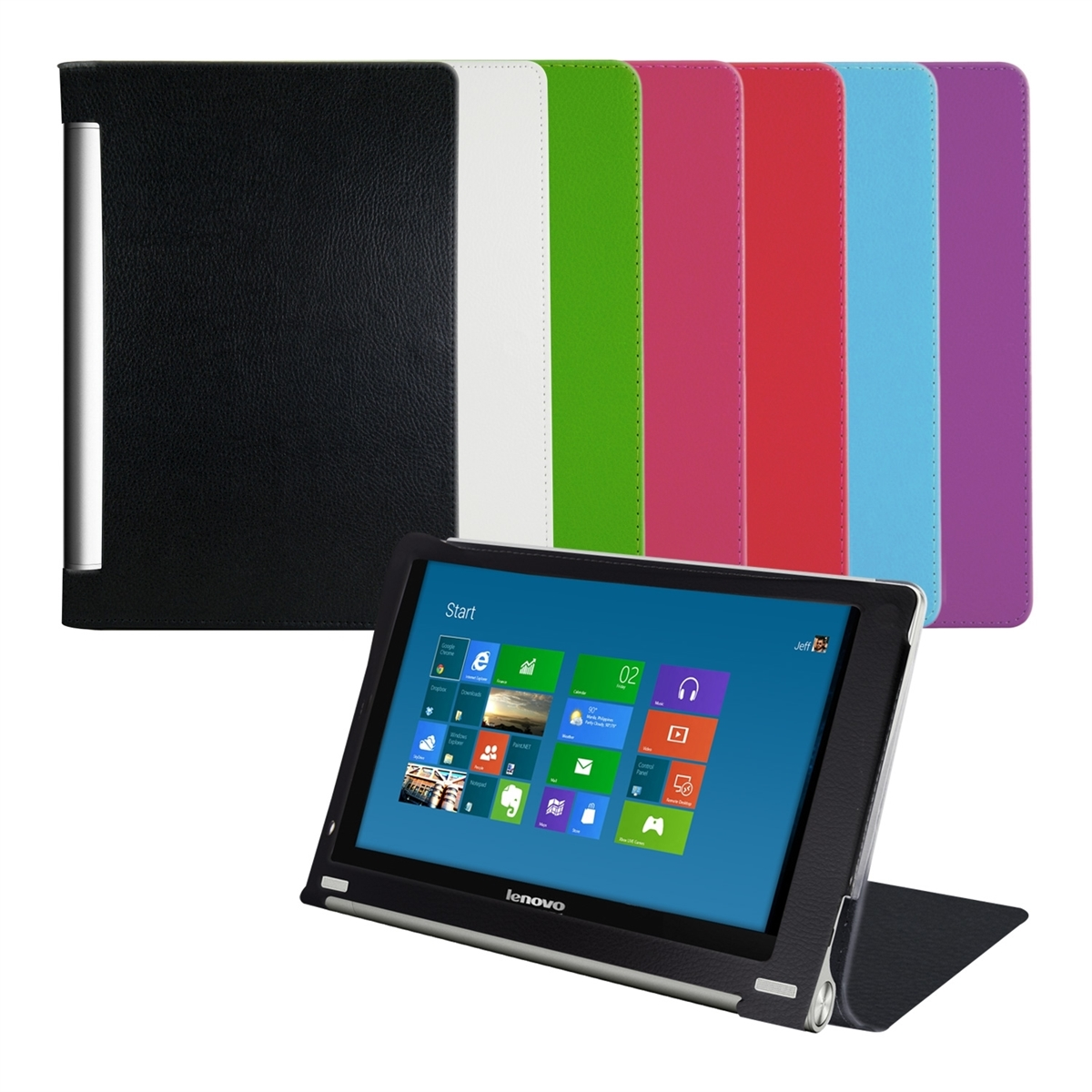 Capa Smart cover PU Pele LENOVO YOGA TABLET 8