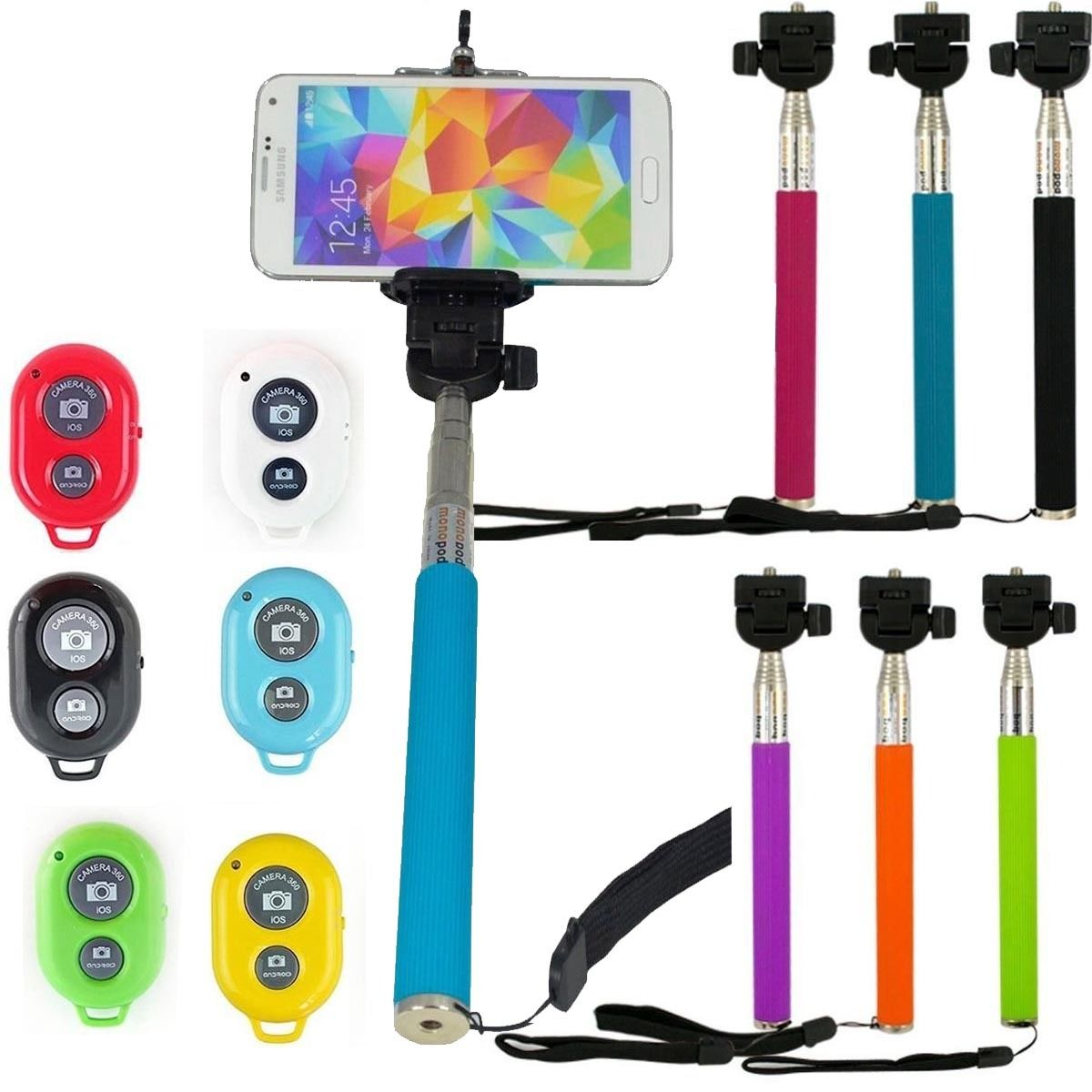 SELFIE STICK MONOPOD BLUETOOTH + COMANDO iPhone Samsung